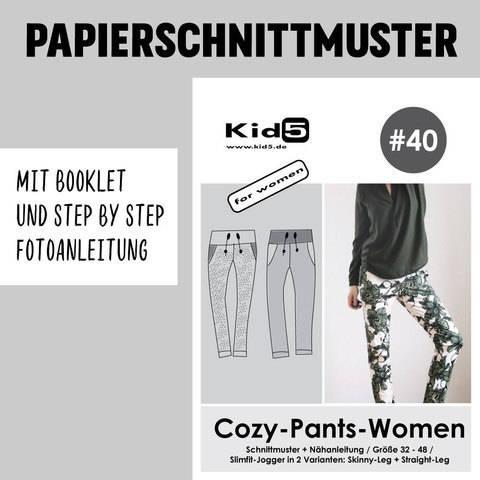 Kid5 Schnittmuster und Nähanleitung gedruckt: Cozy-Pants-Women im Makerist Materialshop