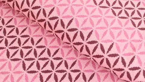 Jacquardstoff rosa: Avalana Eisblumen - 160 cm im Makerist Materialshop