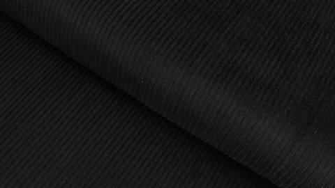 Velours côtelé noir - 147 cm dans la mercerie Makerist