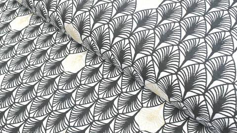 Baumwolljersey schwarz-grau: Charleston - 150 cm im Makerist Materialshop