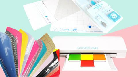 XXL Starter-Set Hobbyplotter Silhouette Cameo 3 in weiß inkl. 25 Euro Gutschein im Makerist Materialshop
