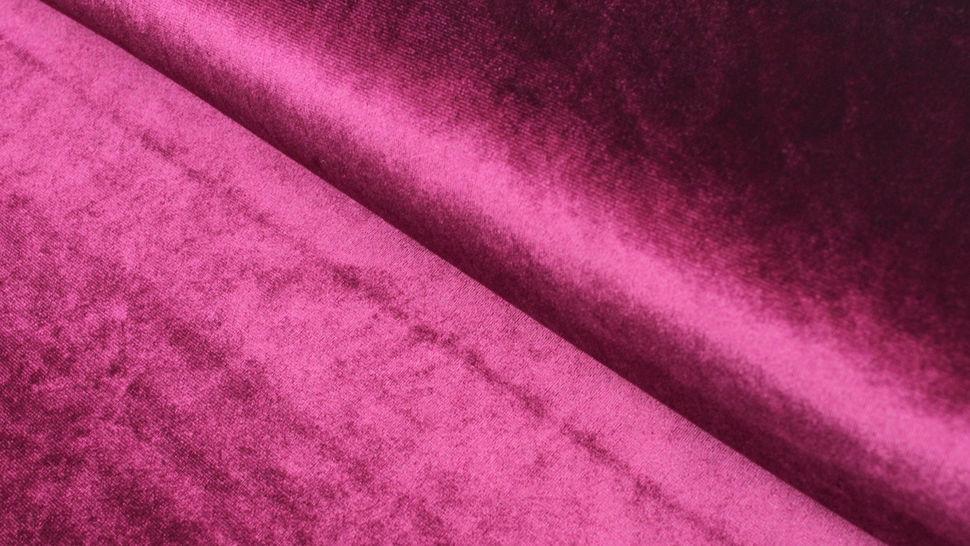 Samtstoff Stretch weinrot - 165 cm im Makerist Materialshop - Bild 1