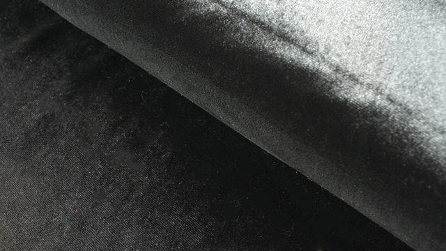 Samtstoff Stretch schwarz - 165 cm im Makerist Materialshop - Bild 1