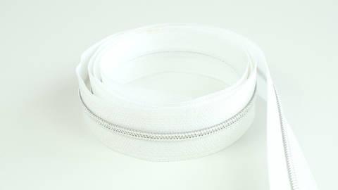 Endlosreißverschluss: silber-weiß - 4 mm  im Makerist Materialshop