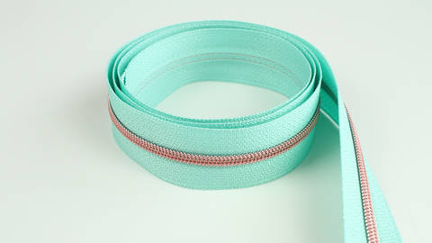Endlosreißverschluss: kupfer-mint - 4 mm  im Makerist Materialshop