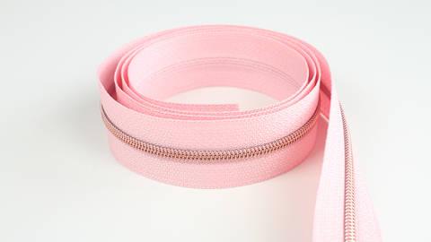 Fermeture à glissière sans fin : rose cuivré - 4 mm dans la mercerie Makerist