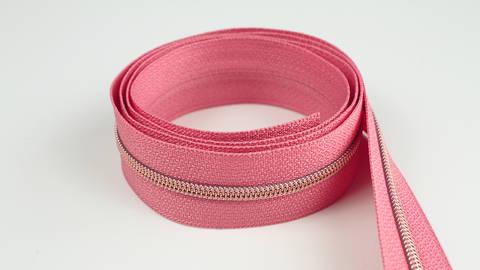 Endlosreißverschluss: kupfer-lachsfarben - 4 mm  im Makerist Materialshop