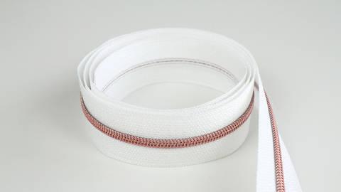 Fermeture à glissière sans fin : blanc cuivré - 4 mm dans la mercerie Makerist