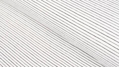 Baumwolljersey ecru-blau: Lurex-Streifen - 150 cm im Makerist Materialshop