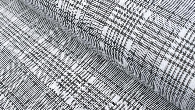 Elastischer Blazerstoff schwarz-weiß kariert: Check Stanford Black - 150 cm im Makerist Materialshop - Bild 1
