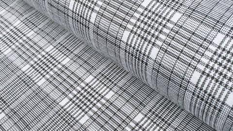 Elastischer Blazerstoff schwarz-weiß kariert: Check Stanford Black - 150 cm im Makerist Materialshop