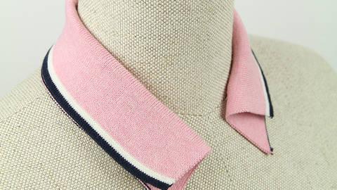 Polokragen - rosa navy im Makerist Materialshop