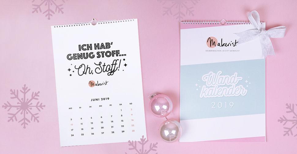 Monatswandkalender DIN A3 2019 von Makerist im Makerist Materialshop - Bild 1