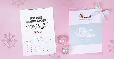 Monatswandkalender DIN A3 2019 von Makerist im Makerist Materialshop