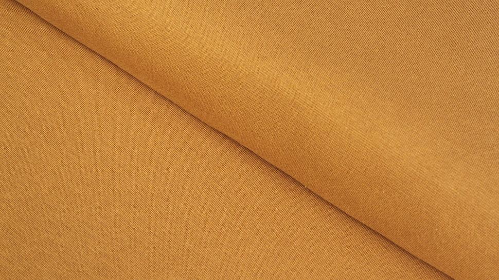 Bündchenstoff ocker: Heike - 100 cm im Makerist Materialshop - Bild 1