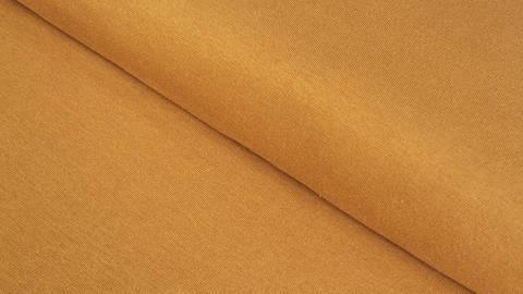 Bündchenstoff ocker: Heike - 100 cm im Makerist Materialshop