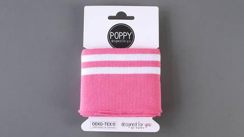 Bündchen pink-weiß: elastische Cuffs im Makerist Materialshop