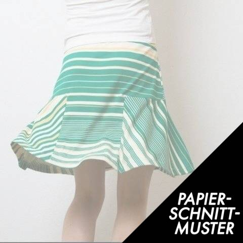 Gedrucktes Schnittmuster für: T-Skirt Jerseyrock 140–170 / 34–44 eBook / Schnitt im Makerist Materialshop