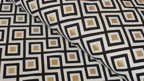 Baumwoll-Mischgewebestoff natur Leinenoptik: Art Deco - 140 cm im Makerist Materialshop