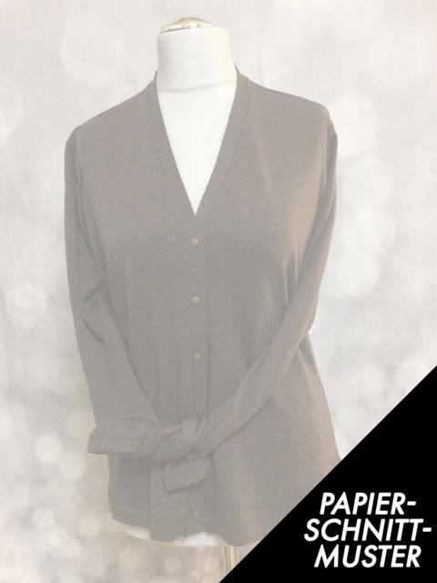 Gedrucktes Schnittmuster für: BASIC Cardigan für Frauen * eBook Schnittmuster * Anleitung im Makerist Materialshop