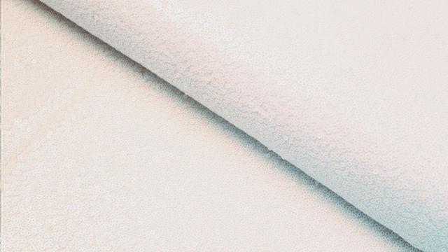 Paillettenstoff weiß - 140 cm im Makerist Materialshop - Bild 1