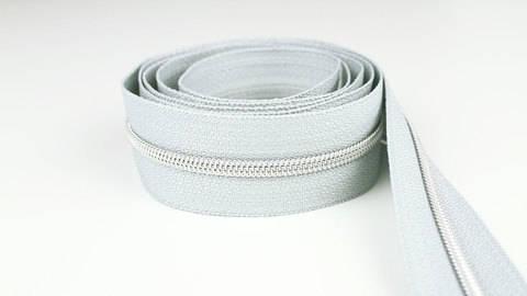 Endlosreißverschluss: silber-grau - 4 mm  im Makerist Materialshop
