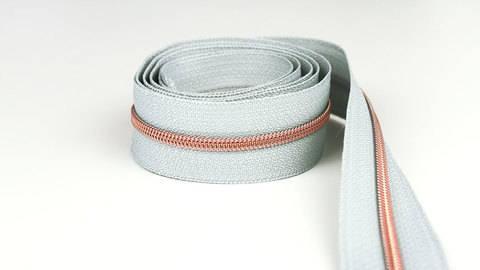 Endlosreißverschluss: kupfer-grau - 4 mm  im Makerist Materialshop