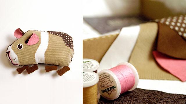 Schmittchen das Meerschweinchen - Kuscheltier Komplettbox von Knuschels im Makerist Materialshop - Bild 1