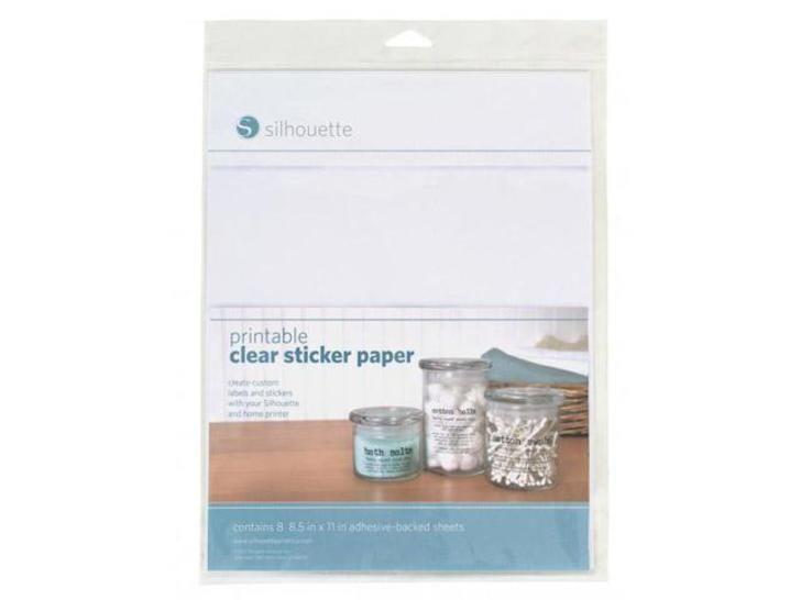 Bedruckbare klare Folie für Aufkleber - 21,6 cm x 27,9 cm im Makerist Materialshop - Bild 1