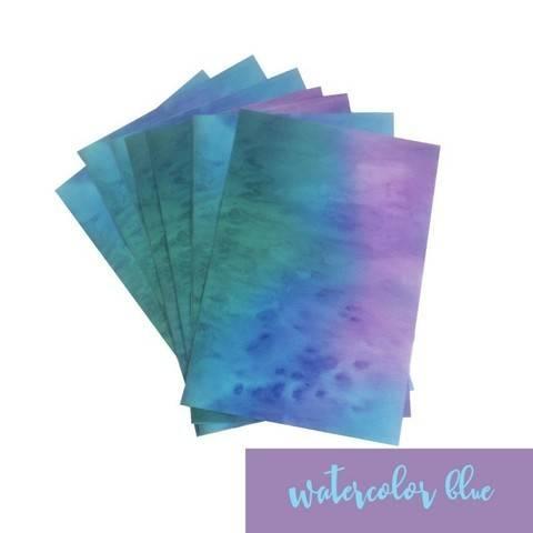 Feuille vinyle mat pour plotter : Aquarelle - bleu dans la mercerie Makerist