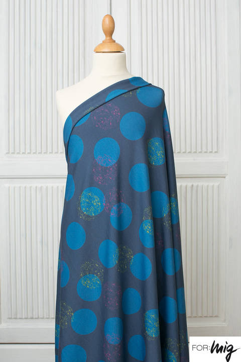 Lillestoff Modalstoff blau: Floral Dots - 150 cm im Makerist Materialshop