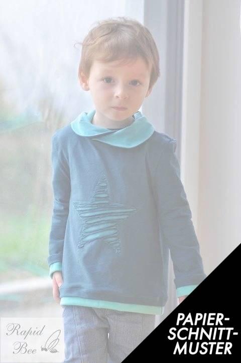 "Gedrucktes Schnittmuster für: eBook Shirt ""Mini Mister Hem"" von Lennähna Größen 86 - 170 im Makerist Materialshop"