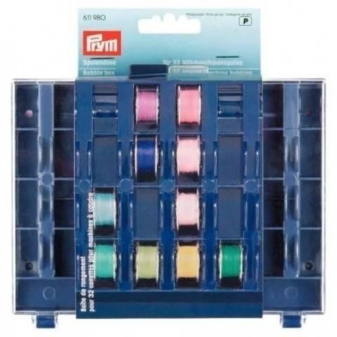 Spulendose für 32 Nähmaschinenspulen, leer 3 x 13 x 16 cm im Makerist Materialshop