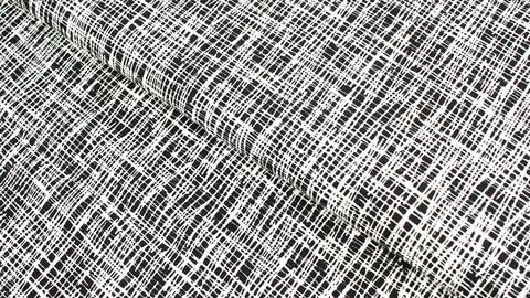 Baumwolljersey schwarz-weiß: Criss-Cross - 160 cm im Makerist Materialshop