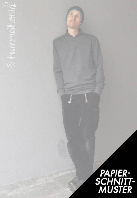 Gedrucktes Schnittmuster für: Herren Sweater (Gr. S bis XXL) Schnittmuster im Makerist Materialshop