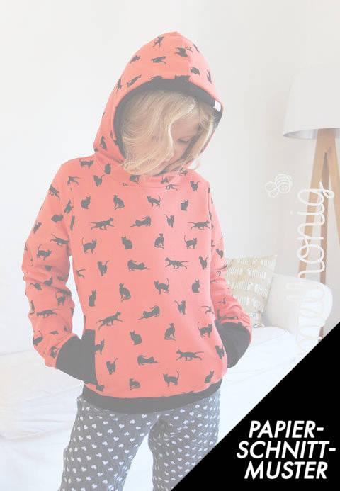 Gedrucktes Schnittmuster für: Hoodie & Sweatshirt (Gr. 86 - 158) Schnittmuster im Makerist Materialshop