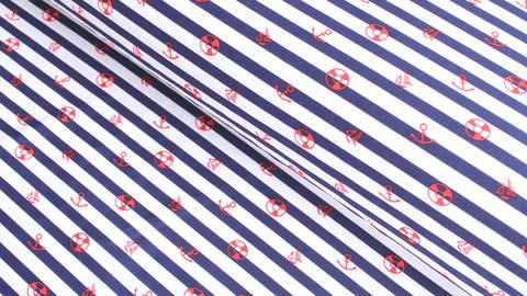 Tissus maillot de bain marin rayé blanc et bleu - 152 cm dans la mercerie Makerist