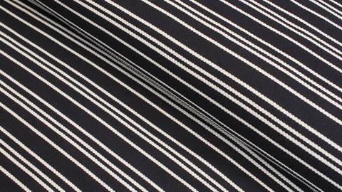 Jacquard-Jersey navy-weiß: Streifen - 158 cm im Makerist Materialshop