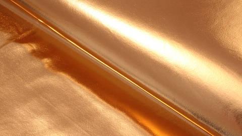 Metallic beschichteter Jersey: kupfer glänzend - 146 cm im Makerist Materialshop