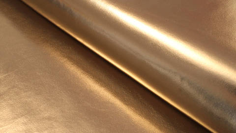 Metallic beschichteter Jersey: gold glänzend - 146 cm im Makerist Materialshop