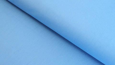 Baumwollstoff himmelblau uni: Heide - 150 cm im Makerist Materialshop