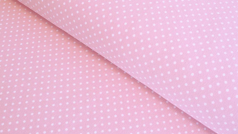 Baumwolljersey hellrosa: Verena Tupfen - 160 cm im Makerist Materialshop - Bild 1