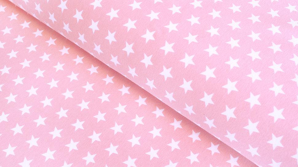 Jersey de coton rose clair à étoiles: Verena - 160cm dans la mercerie Makerist - Image 1
