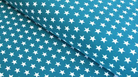 Jersey de coton bleu pétrole à étoiles: Verena - 160cm dans la mercerie Makerist