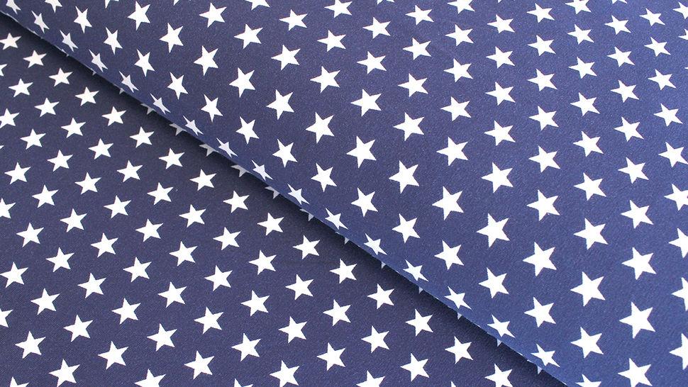Jersey de coton bleu marine à étoiles: Verena - 160cm dans la mercerie Makerist - Image 1