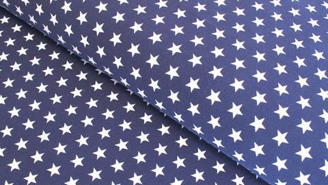 Baumwolljersey dunkelblau: Verena Sterne - 160 cm im Makerist Materialshop