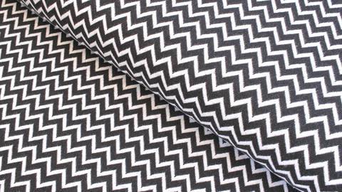 Bündchenstoff Chevron schwarz-weiß: Karla - 100 cm  im Makerist Materialshop