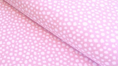 Bündchenstoff Punkte rosa-weiß: Karla - 100 cm  im Makerist Materialshop