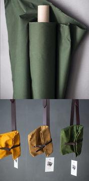 Gewachste Baumwolle matt dunkelgrün: Dry Oilskin - 150 cm im Makerist Materialshop - Bild 1