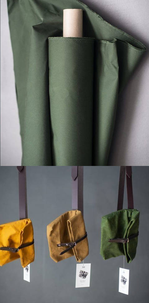 Gewachste Baumwolle matt dunkelgrün: Dry Oilskin - 150 cm im Makerist Materialshop